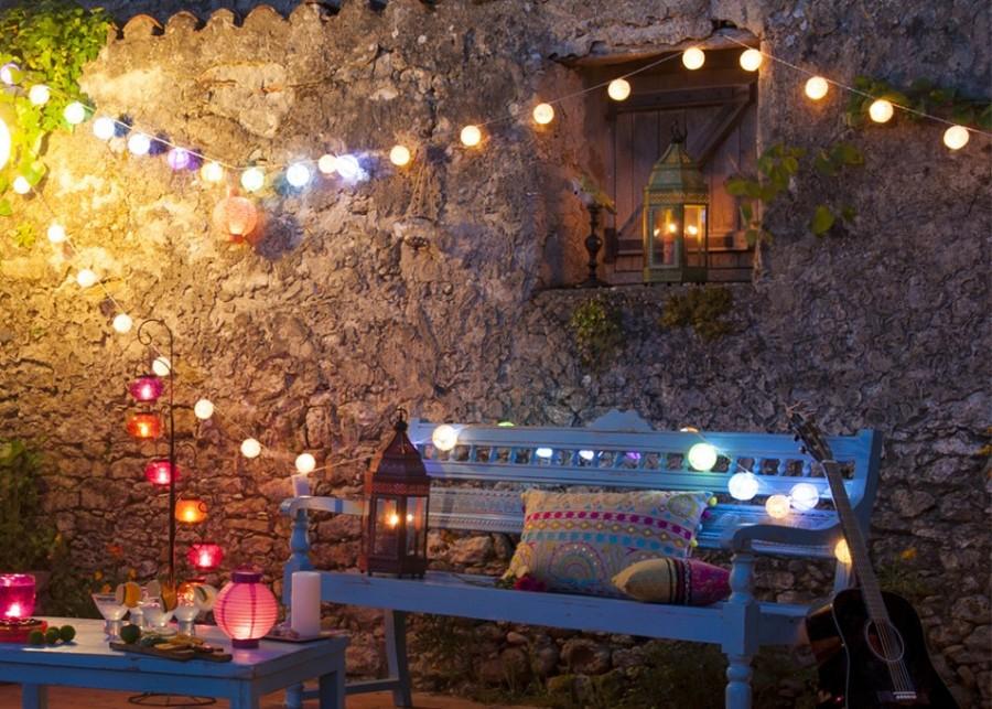 Ilumina tu terraza o jard n para las noches de verano for Luces de exterior para terrazas