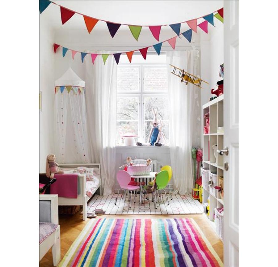Ideas diy para decorar dormitorios infantiles modernos - Papel para habitaciones infantiles ...