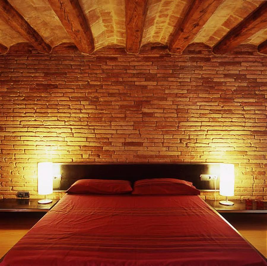habitación con detalle a la volta catalana