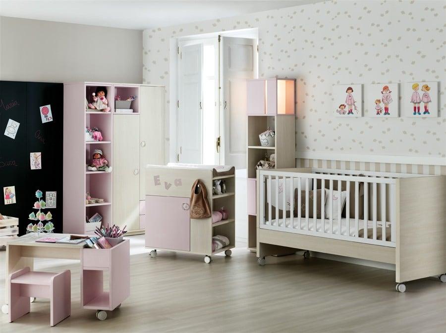 Dormitorios infantiles espacios para desarrollar la - Idee camera neonato ...