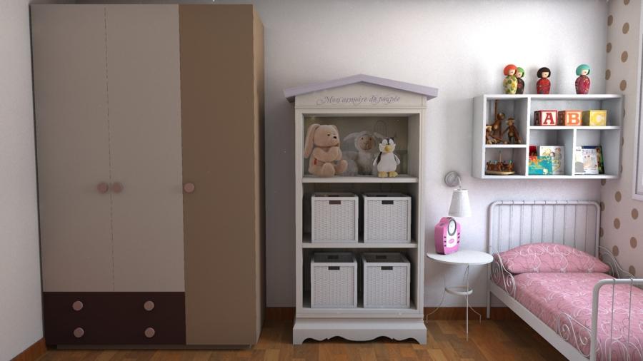 Habitación infantil con toques románticos.