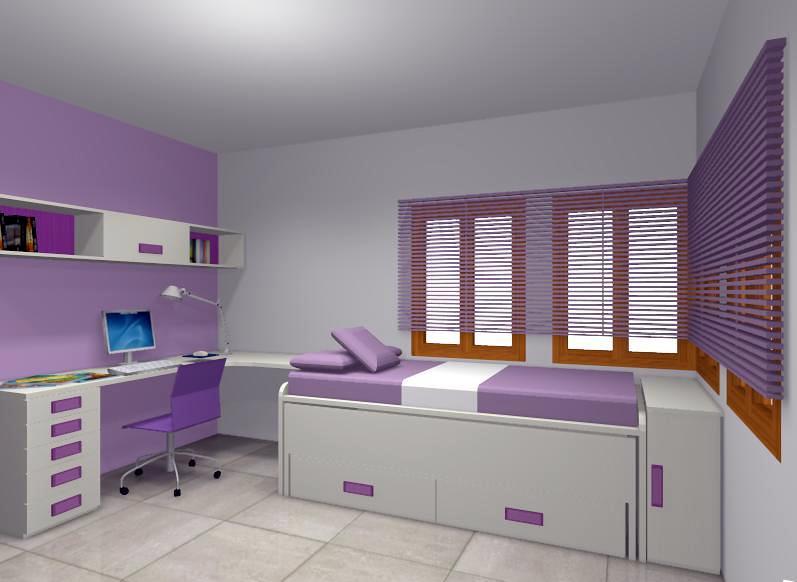 Salon comedor habitacion juvenil despacho dormitorio for Comedor juvenil