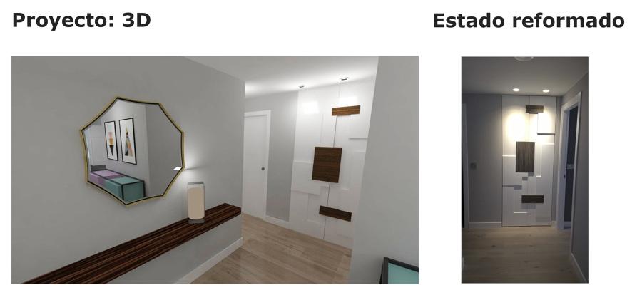 Hall: acceso a dormitorio principal, baño general y cocina