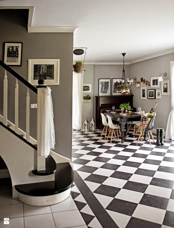10 ideas para decorar con suelos de ajedrez ideas for Suelos modernos