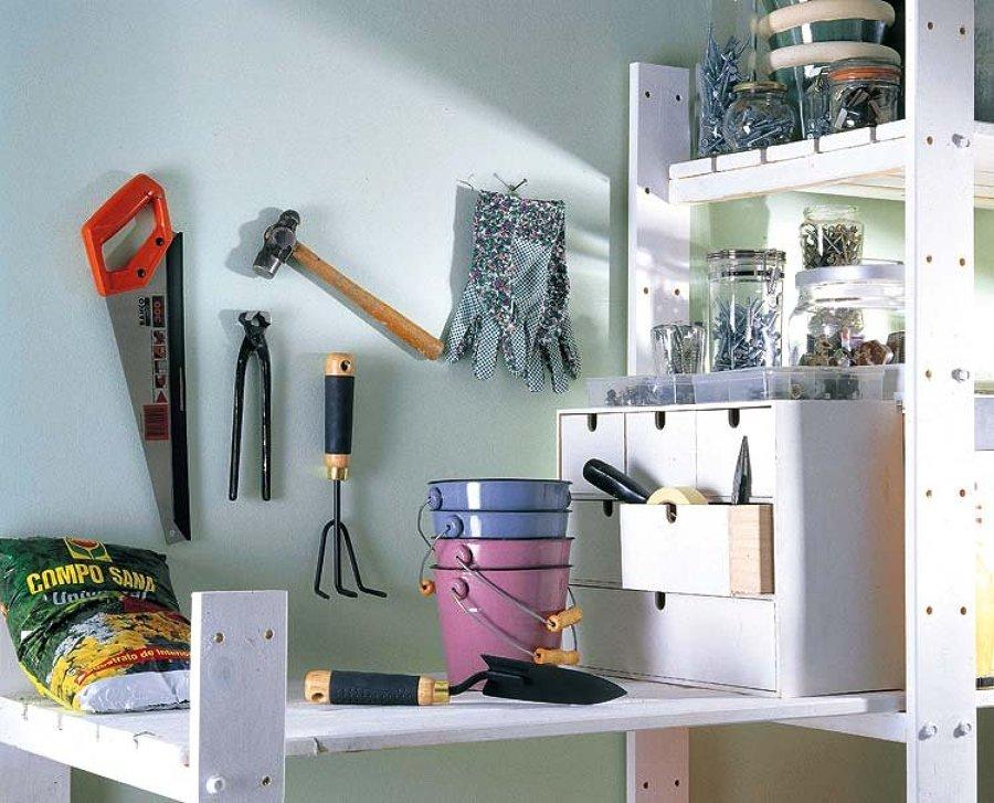 herramientas organizadas