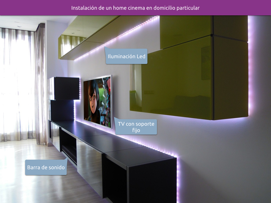 instalaci n de un home cinema en un domicilio particular. Black Bedroom Furniture Sets. Home Design Ideas