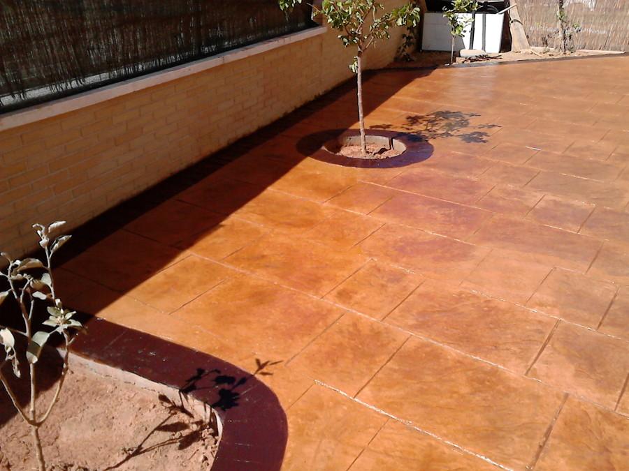 Foto hormig n impreso en patio de hpavycrys 1105051 - Hormigon decorativo para suelos ...