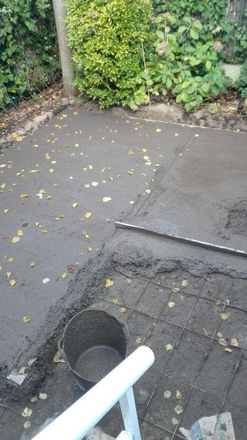 Hormigonado del suelo