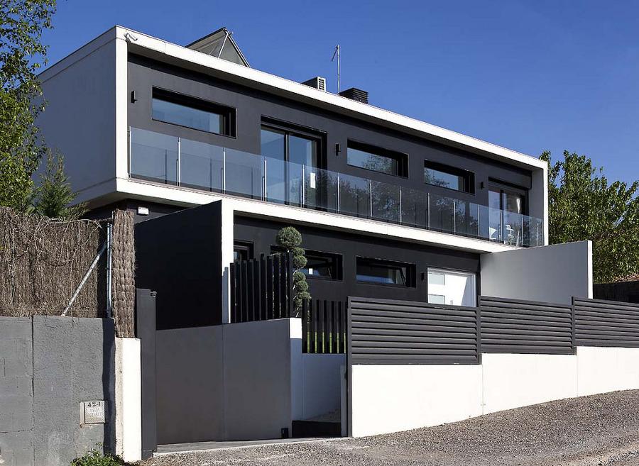 Foto fachada casa prefabricada con elementos - Casas prefabricadas vizcaya ...