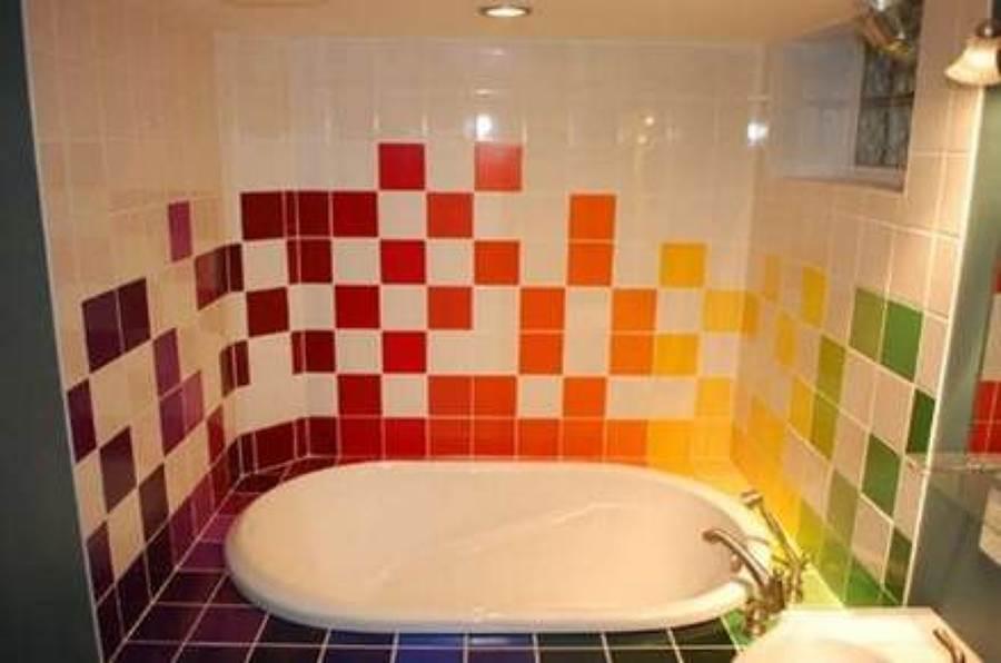 Idea que nos sirvió para la distribución y decoración del baño
