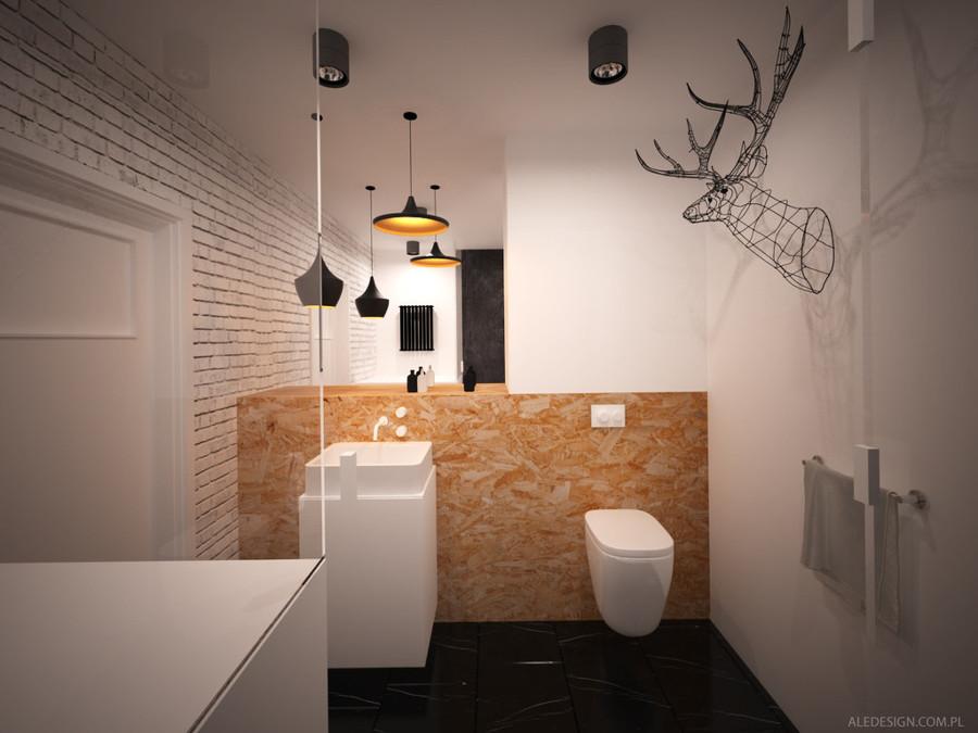 baño rústico-industrial