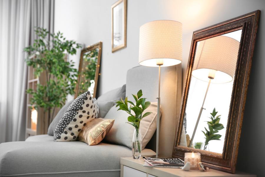 Iluminación ambiental en salón
