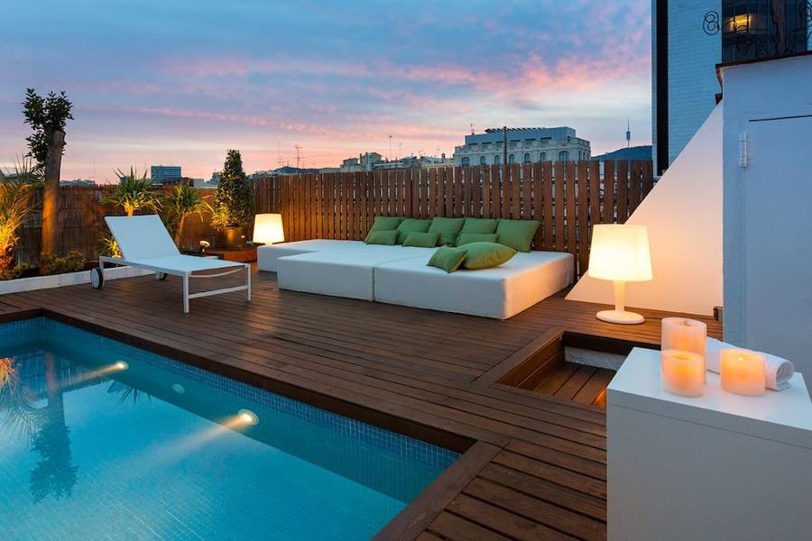 10 terrazas de airbnb en las que perderse e inspirarse ideas decoradores - Attico con piscina ...