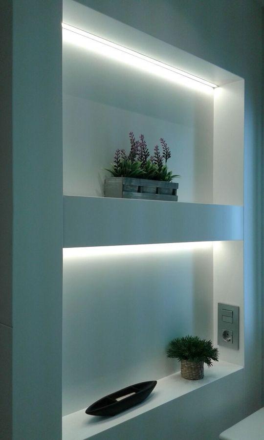 Iluminación de huecos en led.