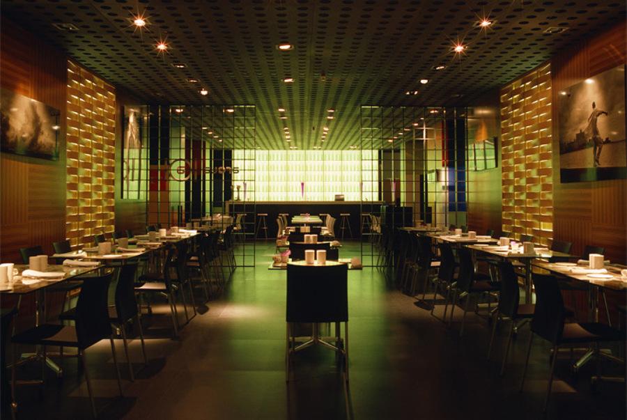 Iluminación en el restaurante