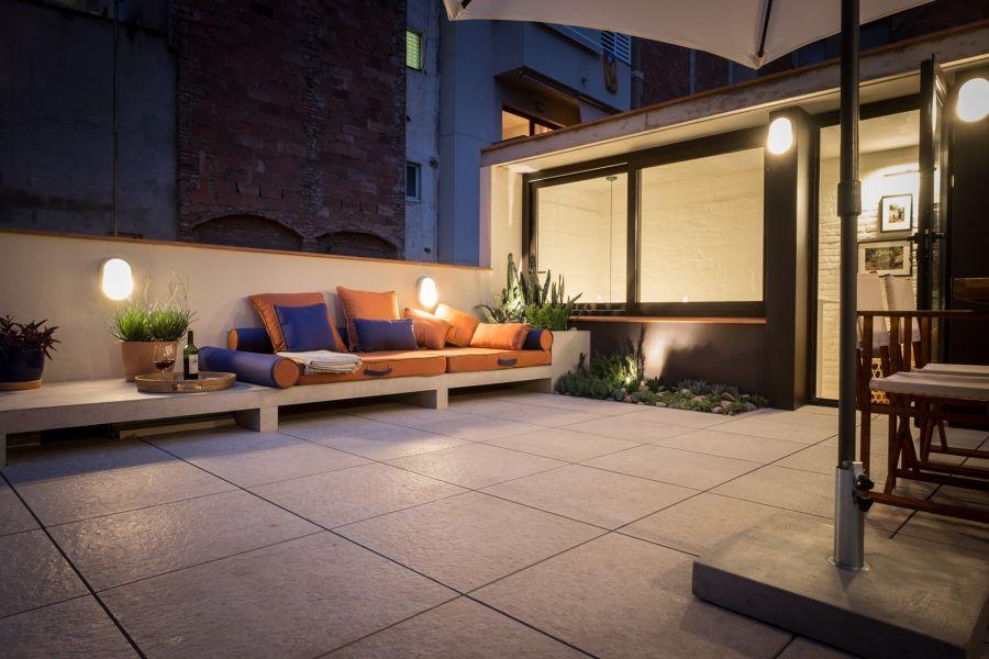 Iluminación en la terraza
