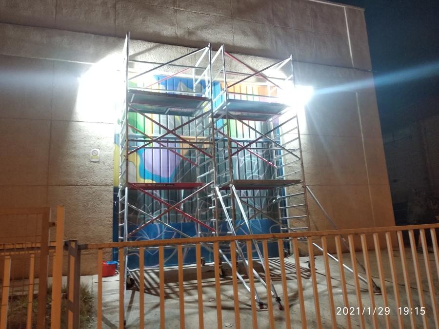 Iluminación fachada decorada