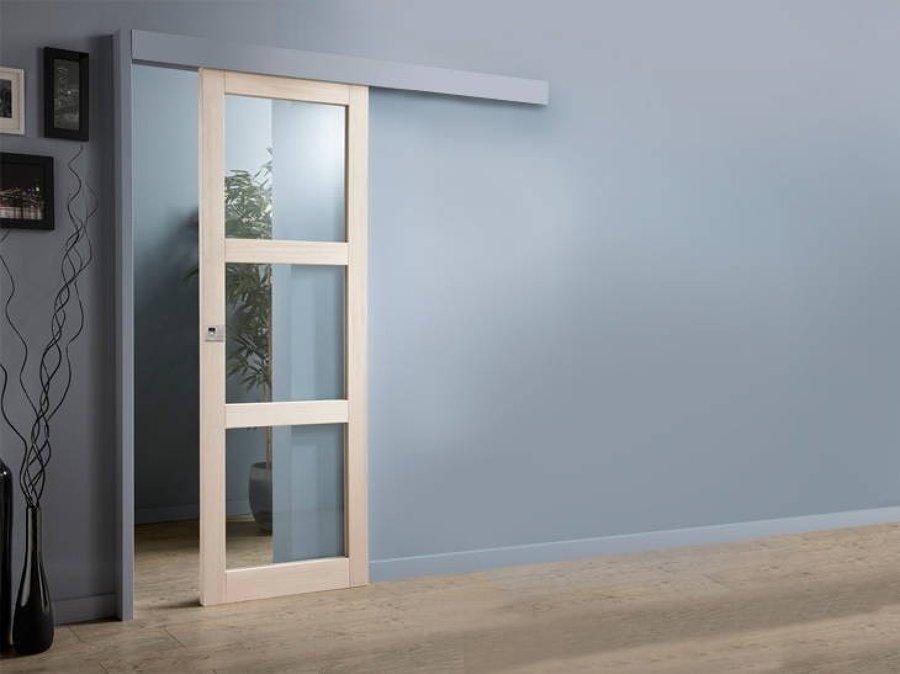 C mo instalar una puerta corredera ideas carpinteros - Como instalar una puerta corredera ...