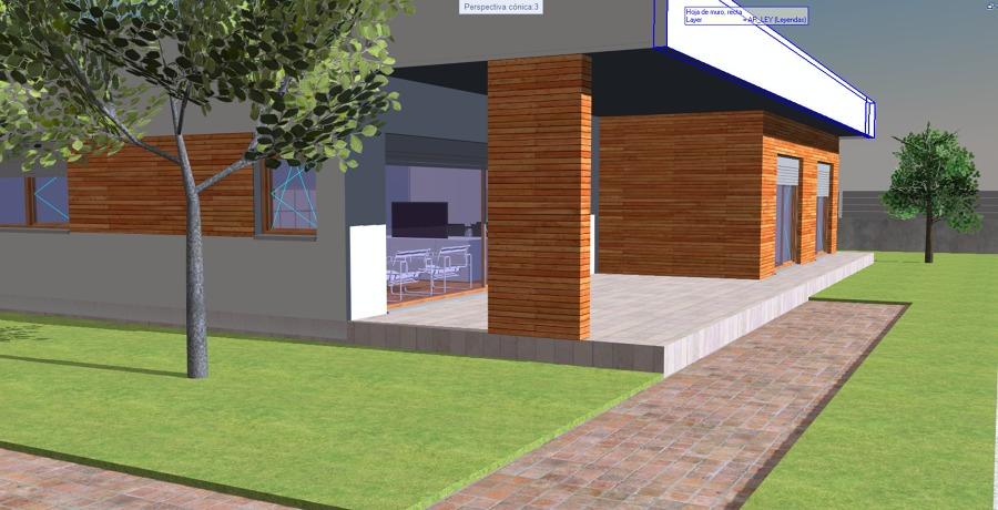 Imagen 3D. Acceso a la vivienda