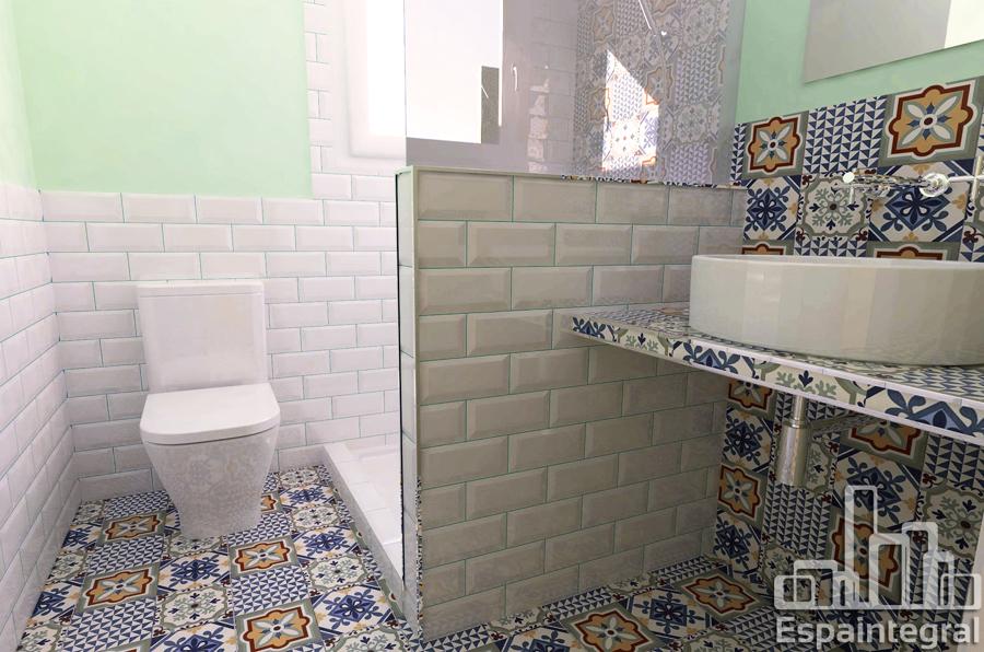Imagen 3D baño
