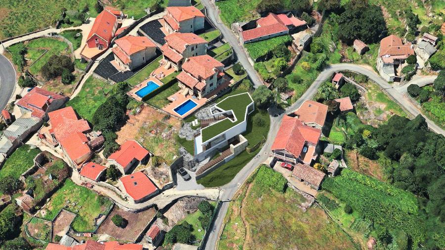 Imagen aérea. Integración en terreno