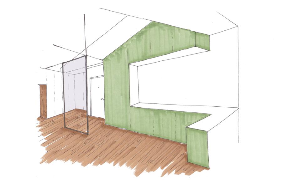 Imagen de proyecto de la zona de acceso