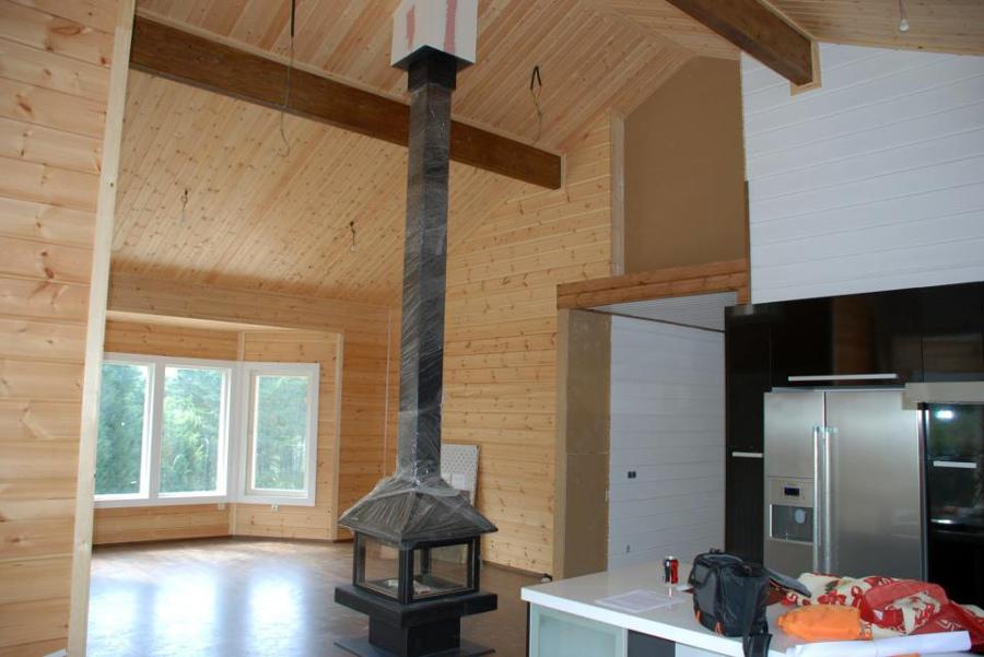 Imagen del salón - vivienda prefabricada