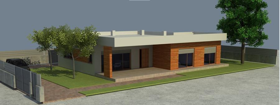 Imagen en 3D de la fachada sur.