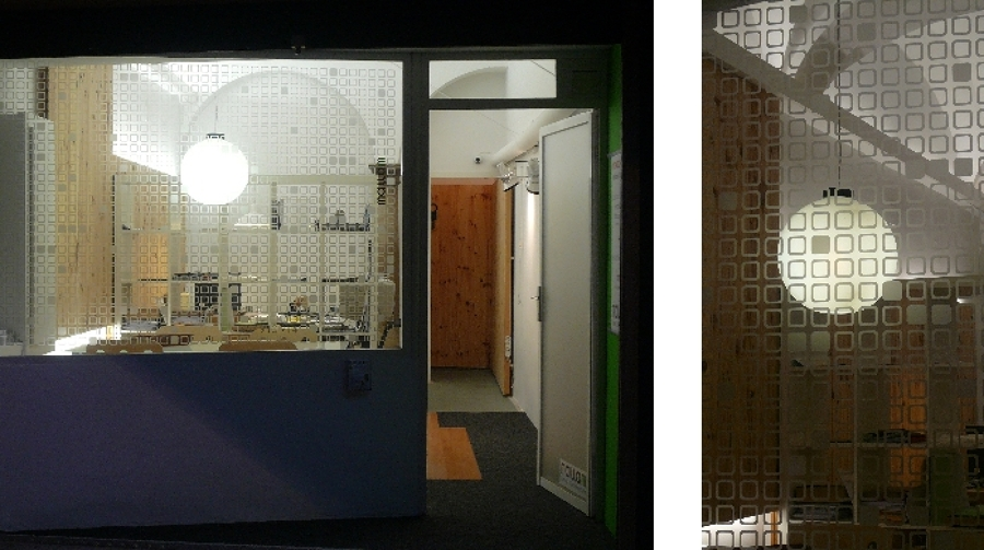 Imagen nocturna con los tres niveles de iluminación
