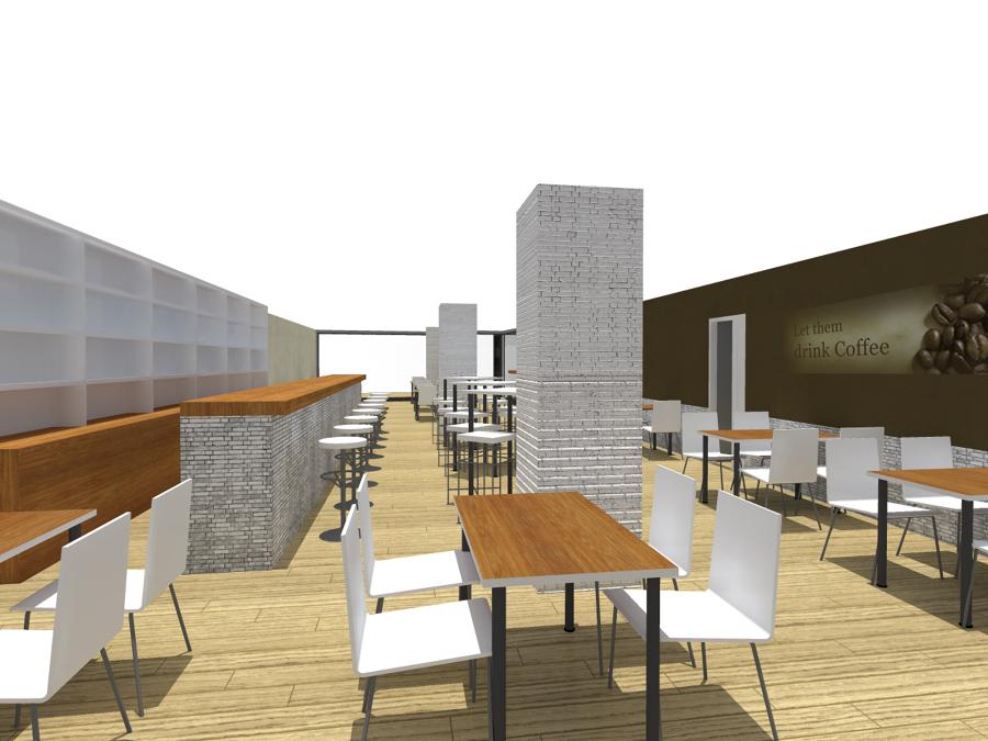 Proyecto de adecuaci n y obra de local comercial cafeteria ideas arquitectos - Proyecto local comercial ...