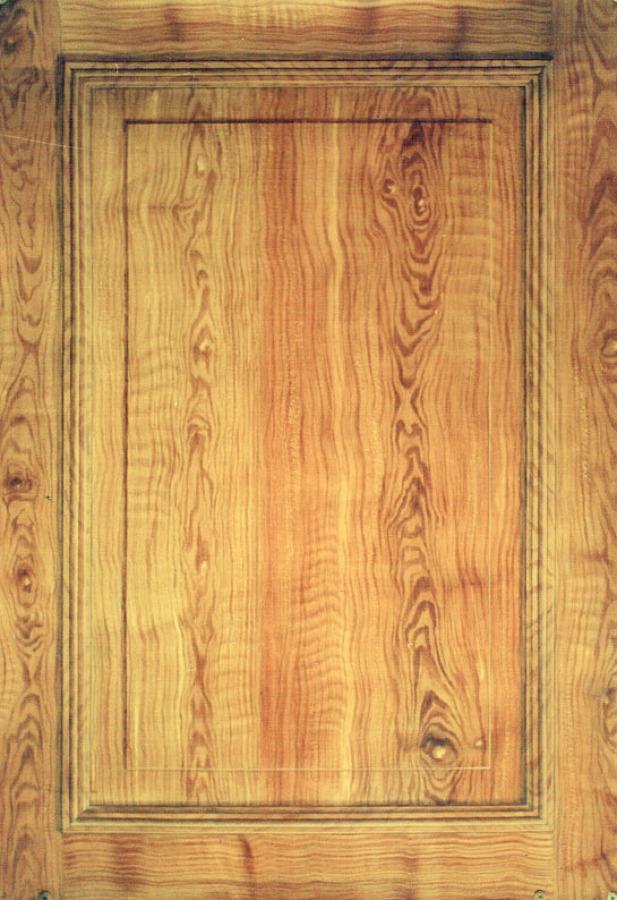 Imitación pintada de madera