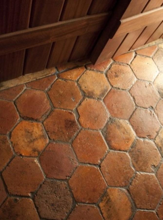 Imitación suelo antiguo barro con mortero