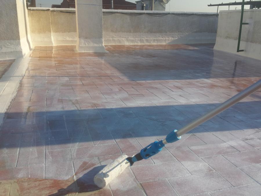 Impermeabilizaci n de cubierta transitable con sistema de for Productos para impermeabilizar terrazas transitables