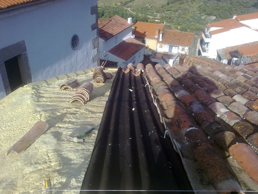 Fotos de reformas y obras nuevas ideas construcci n casas - Impermeabilizacion de tejados ...