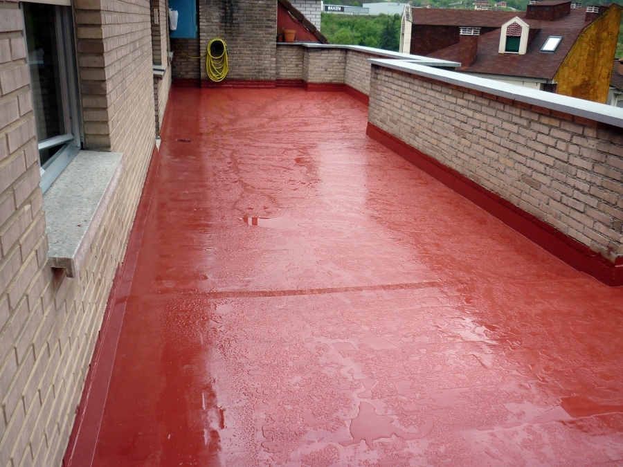 Impermeabilización de Terraza con membrana liquida de poliuretano.oliuretano.