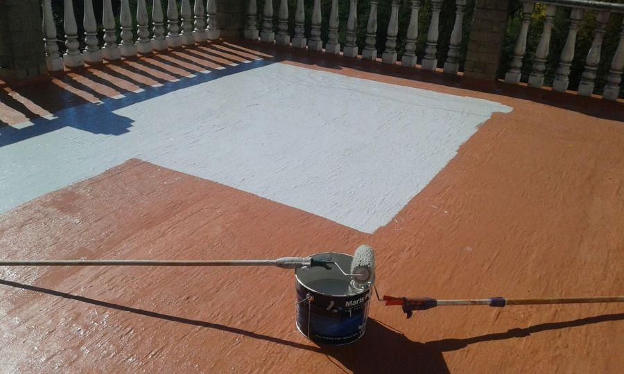 Foto impermeabilizaci n de terraza por sos cubiertas de - Pintura impermeabilizante terrazas ...
