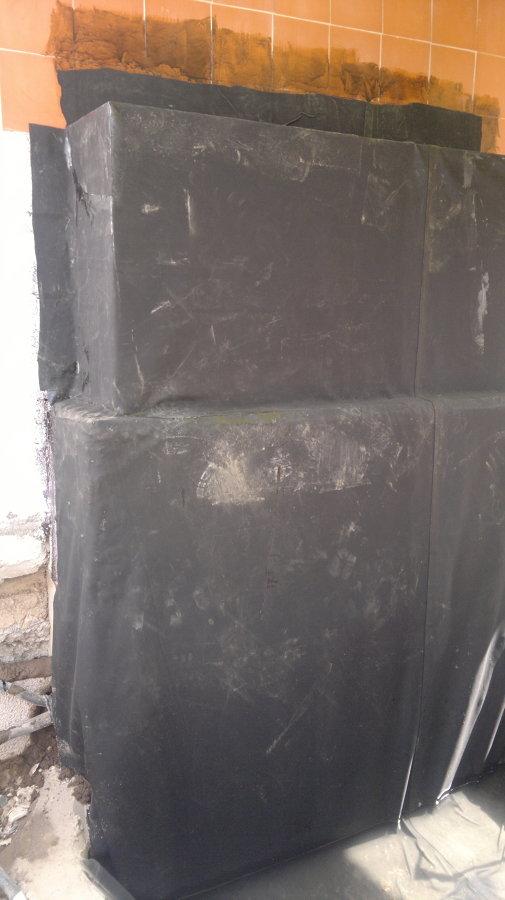 Impermeabilización del muro