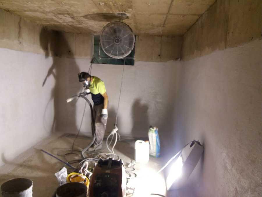 Impermeabilización mediante revestimiento flexible en base cementosa