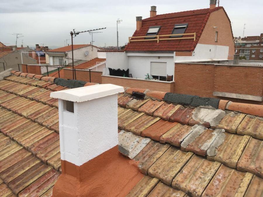 Impermeabilización pared chimenea