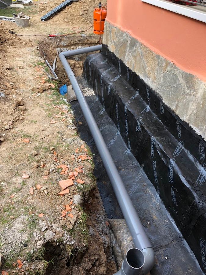 impermeabilizacion y colocacion de tubos