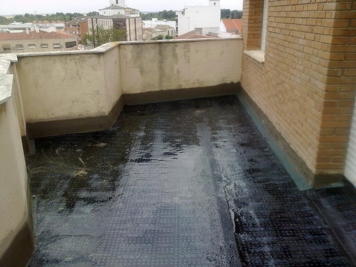 impermeabilizacion y reforma de terraza.