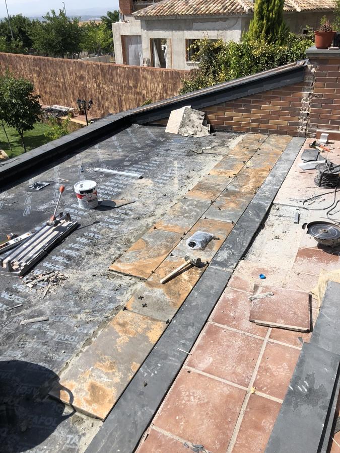 Impermealizacion de la terraza