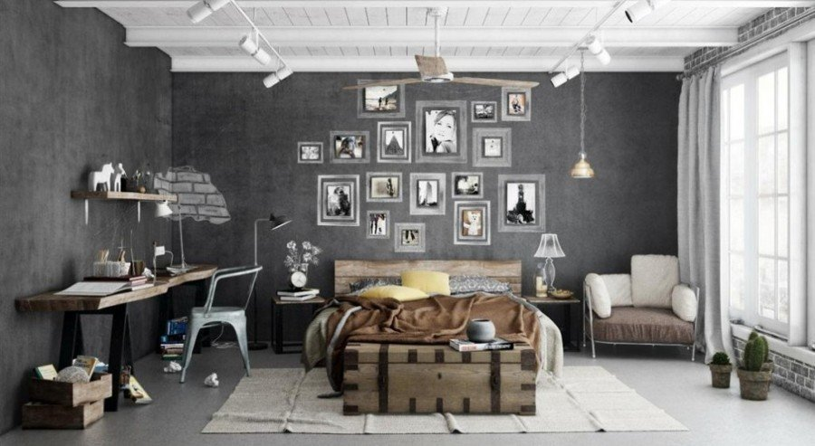 industrial-hanging-pendant-lights-and-grey-interior-wall-decor-1030x602-e1419622372651-1024x562