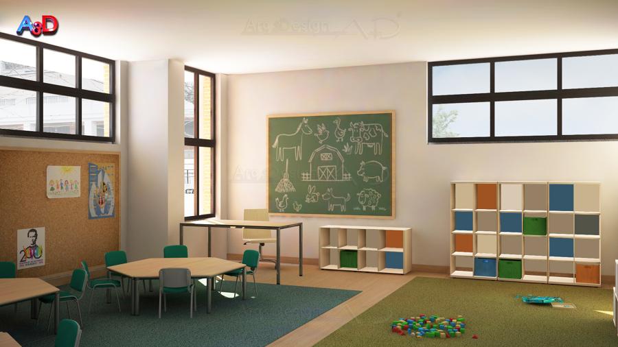Infografia 3D Reforma Aula 03 Salamanca A3D Arq3Design