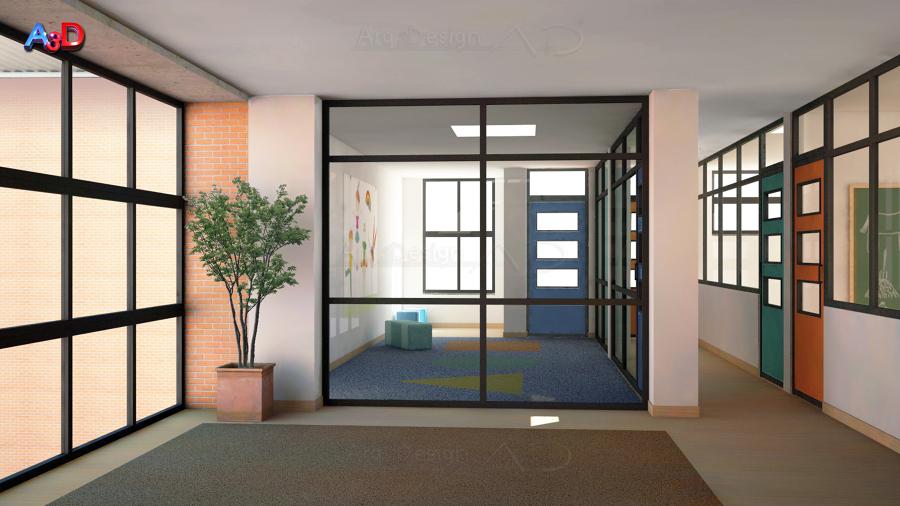 Infografia 3D Reforma Aula 04 Salamanca A3D Arq3Design
