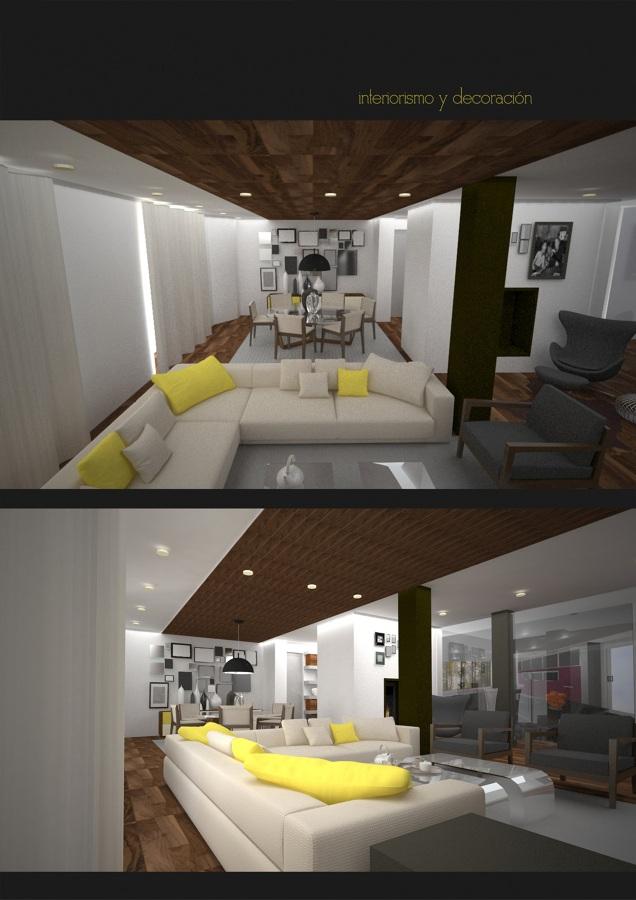 Infografia salón, proyecto de decoración
