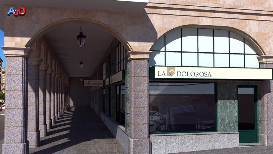 Infografias 3D Ext 01 Reforma Local Salamanca A3D Arq3Design