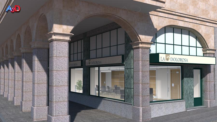 Infografias 3D Ext 02 Reforma Local Salamanca A3D Arq3Design