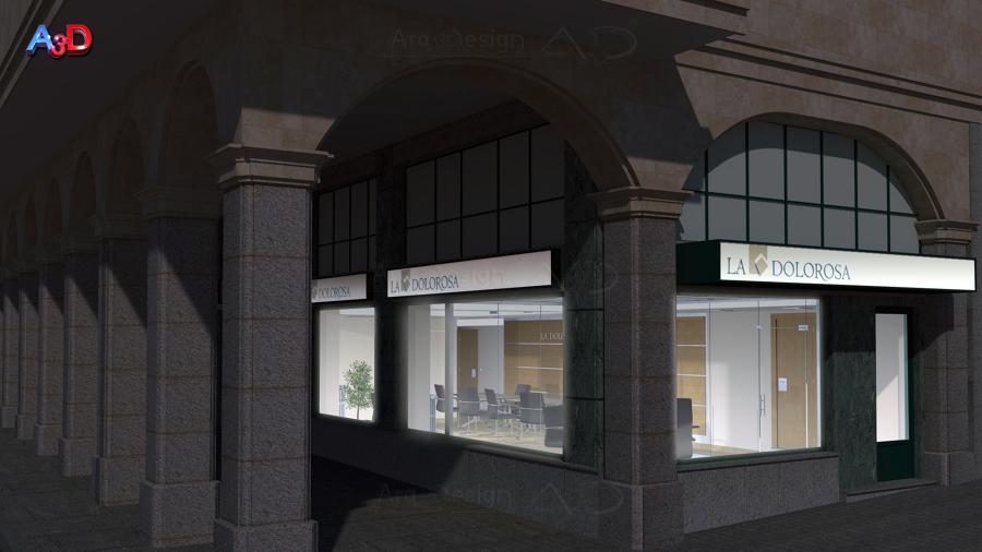 Infografias 3D Ext 03 Reforma Local Salamanca A3D Arq3Design