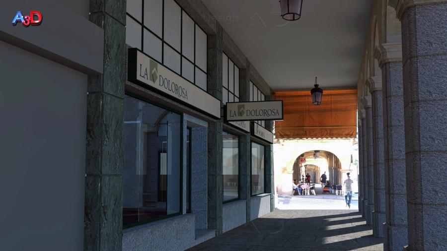 Infografias 3D Ext 04 Reforma Local Salamanca A3D Arq3Design